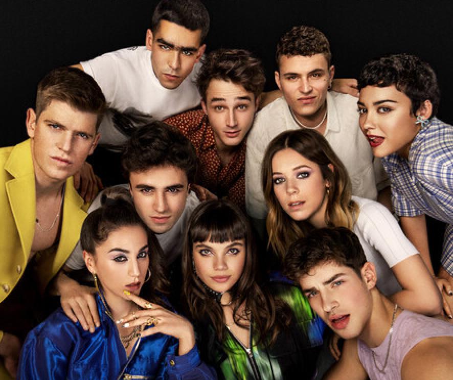Protagonistas de la última temporada de Élite